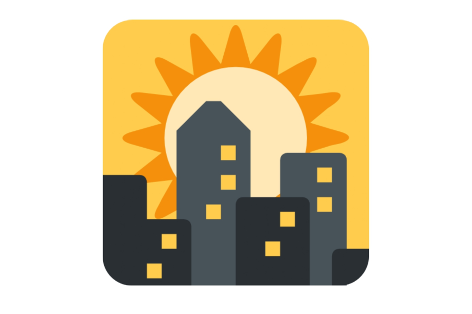 🌇 Emoji Sunset Over Buildings Copy and Paste