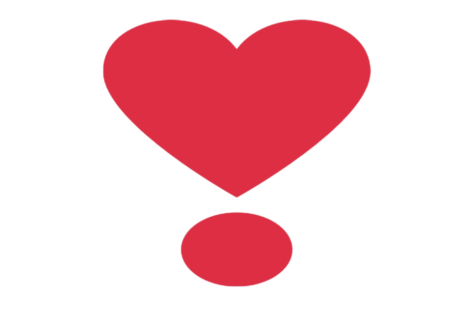 ❣ Emoji Heavy Heart Exclamation Mark Ornament Copy and Paste